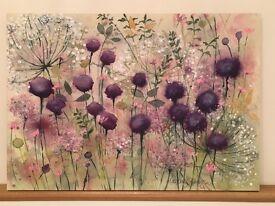 Canvas in purple
