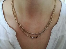 """Gold plated zirconia """"Love"""" necklace"""