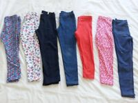 girls leggings & dresses bundle age 5-7 years and 4-5 years