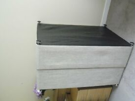 Double bed base only(no mattress) only a few months old