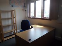 Edinburgh office space / desk share / desk space - £195pm inclusive of all costs with parking