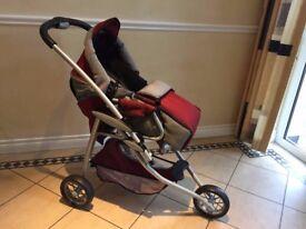 Dolls Deluxe 3-Wheel Stroller/Buggy.