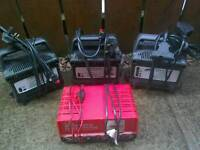 Electric golf trolley chargers