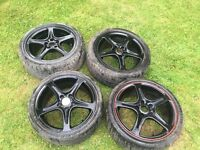 "4 17"" wolfrace alloy wheels"