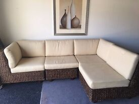 Designer water hyacinth conservatory sofa