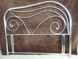 Double chrome headboard