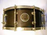 """Pearl M-1946 50th Anniversary solid maple snare drum 14 x 5 1/2"""" - japan - 1996 - #1265/1996"""