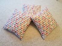 Three John Lewis prism cushions - Mint Condition