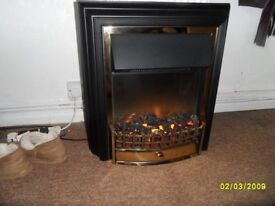 for sale flame efect electric fire very good condition no marks on it