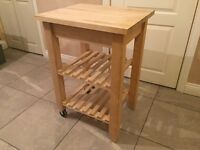 Ikea Kitchen Trolley Natural Wood Homeware Furniture Storage