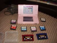 NINTENDO DSI LITE WITH POKEMON GAMES AND MORE
