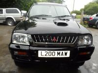 2003 MITSUBISHI L200 WARRIOR BLACK , 3 MONTHS WARRANTY , CLEAN ONLY 116K , FREE UK DELIVERY