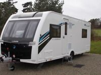 """2017 """"As New"""" Lunar Clubman SR 4-berth Touring Caravan with many top spec fittings & extras."""