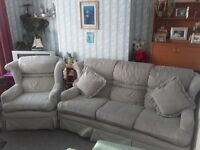 FREE TO COLLECT FABRIC SOFA & ARMCHAIR