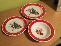 Portmeirion Christmas plate set, bnwot