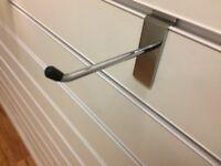 10cm Heavy Duty Metal Slat Wall Hooks In Very Good Condition Only 13p Each