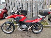 BMW G 650 GS ABS. Low mileage. BMW tank bag, top box, heated grips etc. Recent BMW service and MOT
