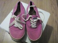 Super dry canvas shoes