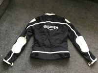 Triumph motorcycle jacket, ladies size xs, excellent condition £25.00 ovno