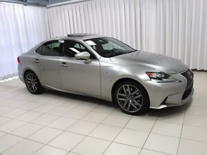 2016 Lexus IS 350 F SPORT AWD w/ HEATED/COOLED LEATHER, MOONROOF