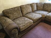 Gorgeous animal print corner sofa