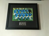 SIGNED AND FRAMED ITALY WORLD CUP 2002 SQUAD PHOTO - ORIGINAL/AUTHENTIC SIGNATURE WITH COA