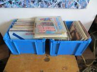 "Large joblot of vinyl records for sale. Mixed genre. 12"" single, LPs."