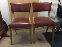 Vintage Benchairs in Ox Blood Red