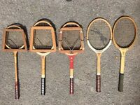 Vintage / Antique Tennis Rackets - 5 In This Job Lot - All Good Condition - Reduced