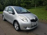 07 TOYOTA YARIS T SPIRIT 1300 PETROL 92 k MILES - FINANCE & WARRANTY not C3,AYGO,107