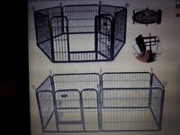 Heavy Duty 6 Panel Puppy Dog Pet Playpen Run Enclosure Whelping Pen Metal Cage (Easipet) - like new