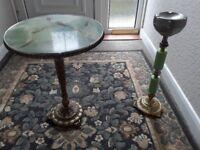 Onyx small table and ashtray