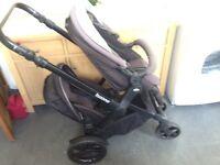 Jane Twone double tandem pushchair / buggy / pram