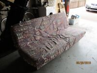 Sofa bed- sturdy construction pet/smoke free. Fire Retardant label in base. Washable cover.