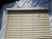 Wide slat venetian blind - light pine - 113cm Wide X 110cm drop