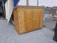 Wooden storage boxes perfect for bikes gas tools lawnmowers