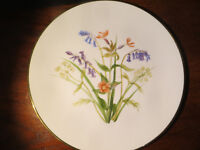 Large Vintage Hand Painted Decorative Plate Floral Design Joan M Richardson 1985 Display Plate Art