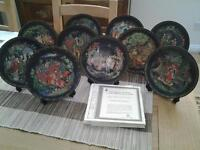 COLLECTION of 10 Russian plates plus certificates. £20.00 collection only
