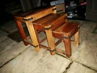 Maharajah Indian Rosewood Small Nest of 3 Tables