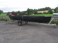 9.9 yamaha 18 ft fishing boat and trailer