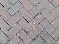 Block paving brick pavers - approx 1000 bricks - red colour