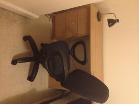 Desk and chair £30 (pick up only) - as good as new