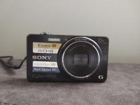 SONY DSC-WX100 Cyber-Shot Digital Camera 18.2 MP 10x, Optical Zoom + 4GB Duracell SD, charger & case