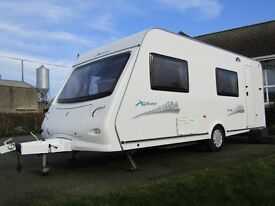 2009 ELDDIS XPLORE 6 Berth *PRICE DROP* Fixed rear bunks with great storage underneath.