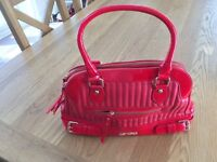 LYDC LONDON - Red leather hand bag