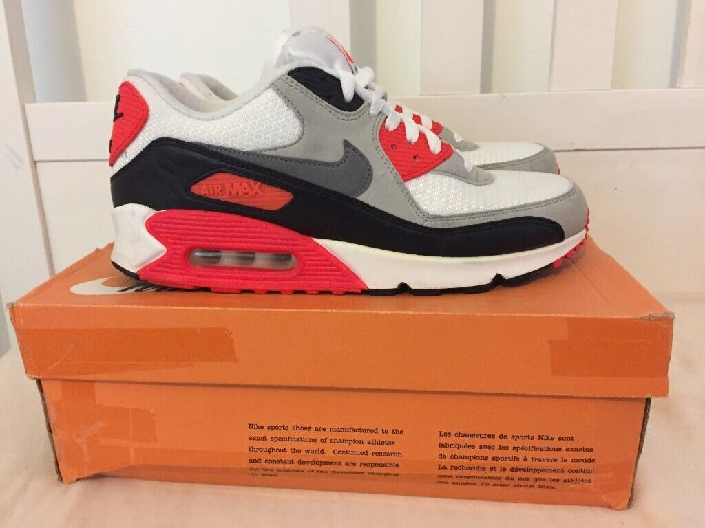 MENS SIZE 9 NIKE AIR MAX 90 INFRARED TRAINERS 2015 WORN 4 TIMES | in Coulsdon, London | Gumtree