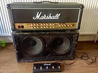 Marshall guitar stack amp, cab and foot switch £450 Ono