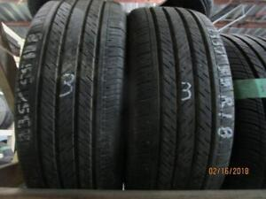 235/55R18 2 ONLY USED MICHELIN ALL SEASON TIRES