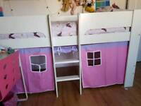 KIDS CABIN BED WITH PLAY SPACE OR EXTRA MATTRESS SPACE UNDERNEATH