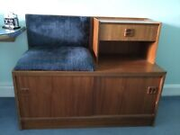 Telephone table with seat and storage space